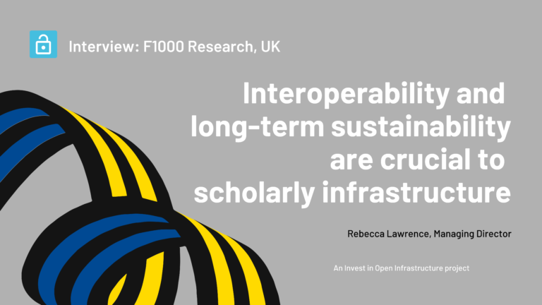 An interview with Rebecca Lawrence, Managing Director, F1000 Research, UK